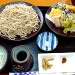 川音亭 - 野菜天ざる1600円