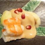 酒菜家 - 2012.9.8)イチヂクと海老の胡麻味噌かけ(480円)