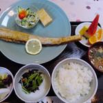 14713412 - ランチの太刀魚の唐あげセット