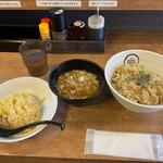 麺創 麺魂 - 半チャンセット