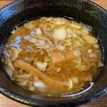 麺創 麺魂 - 魚介鶏豚骨つけ麺のつけ汁