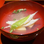 杦 - お椀  京都産の筍、宍道湖の白魚、うるい、独活、木の芽