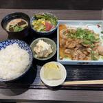 吾妻 - 犬鳴ぶた 生姜焼き定食