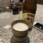 旬魚介×串揚げ Kushi‐Toria M's - グラスが冷えてて美味いビール