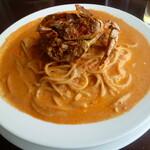 レストランDon - ワタリ蟹の旨味がいっぱい染み込んだトマトクリームソースがお皿からこぼれそうなぐらいた~っぷり♡