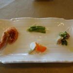 Tentsuusaikan - 前菜4種