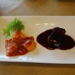 天厨菜館 - 海老チリと酢豚?