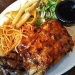 トニーローマ - サーロインステーキにリブをオン。