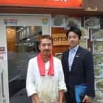 キッチン たか - 先日(9/7)国会議員の小泉進次郎さんご来店でした。知人から当店のことを聞いてて「やっと来れました」(笑)ポークジンジャーをお召し上がり「美味しかった」って。小泉さん、生姜焼きが大好きなんですって(笑