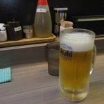 らーめん山頭火 - 生ビール♪