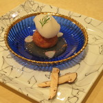 トゥ・ラ・ジョア - 松茸の百合根饅頭と松茸 (2012/09)