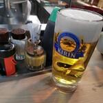 147171440 - 生ビール(^_^)/□ グビグビ半分位一気に