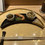 Ikebukurosushisora - 前菜三種