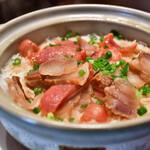 粤港美食 - 中華腸詰と干し豚バラ土鍋ご飯(2人前)@1,480円