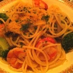 酒房食堂 dish - 海老とからすみのパスタ
