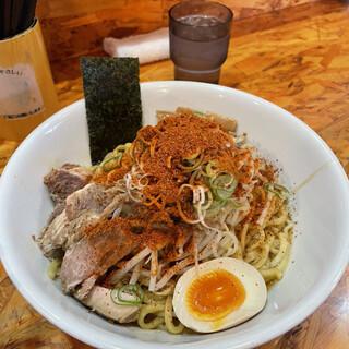 麺武者 - 料理写真:旨辛シビまぜそば特盛(980円)