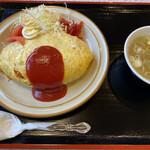食堂 いちばん - オムライス¥800(税込)