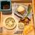 むろまち 加地 - お通し  蒸し鶏 カリフラワーのすり流しがけ、牡蠣の味噌煮、豆乳とあおさ海苔のバター、小蕪のカラスミがけ、浅葱の新芽と菊菜の新芽の胡麻和え、芹のお浸し イクラのせ