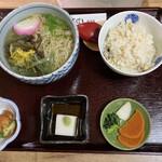 蕎麦切 ゆる里 - 山菜蕎麦定食