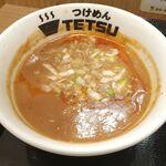 つけめんTETSU  - つけだれはメンマやひき肉が入った魚介系豚骨スープをベースに麻辣な辛さが効いてハマるウマさ!