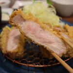 147219591 - 特上リブロースかつ定食(230g 税込3,300円)                       (京中式 長期熟成豚)