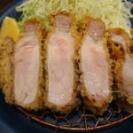 147219594 - 特上リブロースかつ定食(230g 税込3,300円)                         (京中式 長期熟成豚)