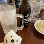 もつ肉ハッピー - ホッピー白、ニコニコレモンサワー Hoppy, Nikoniko Lemon Sour at Motsuniku Happy, Yokosuka Chuo!♪☆(*^o^*)