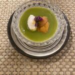 147239544 - スープは新玉ねぎのブラマンジェ