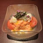 147239545 - フルーツトマト『きわめ』赤座海老とオシェトラキャビアの冷製カッペリーニ