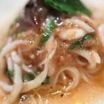 チュラ・ラ - 蛍烏賊と白魚の冷製パスタ 食べるオリーブオイルのガスパッチョ仕立て