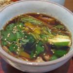 蕎麦 紫翠 - 豚せいろセット(汁アップ)