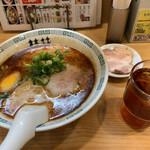 桂花ラーメン - 朝ラーメン+チャーシュー(500円+Appクーポン)