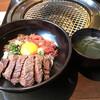 焼肉 腰塚 - 料理写真:腰塚三昧丼で肉三昧です♪1,180円税別