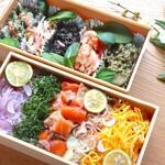 手作り豆腐とおばんざい 天水分 - 料理写真:【テイクアウト】「旬菜二段重」季節のおばんざいと華やかちらし寿司