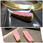 Ushigoro Ginza - ◆シャトーブリアンのカツレツ・・間違いなく美味しいでしょ。 先に口にした娘が「ワァ、美味しい」と言うので、私の分も娘へ。♪