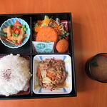 ハイジア - 日替わりランチ 豚肉スタミナ炒め
