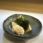 147288772 - ◆鯛の子と筍の若竹煮・・魚卵大好きです。薄味なのですがしっかりお味がしみていて、美味しい。