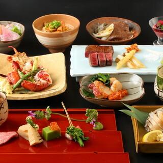 ●誕生日・記念日にも◎創作和食と寿司が充実した懐石コース