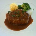 琥珀の森レストラン くんのこ - 短角牛のハンバーグ