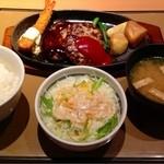 やよい軒 - 洋風ハンバーグランチ  ¥690