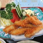 青木旅館本館 - ワカサギ定食のフライ