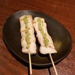 鶏次郎 - ささみわさび 320円