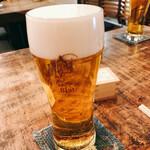 いか玉焼と串カツ マハカラ - 生ビール[550円]はパーフェクトエビス