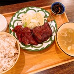 牛たんの檸檬 - 牛たん2種盛定食