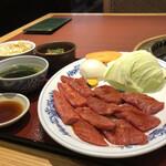 利花苑 - カルビランチ¥1,150+お肉大盛り¥450