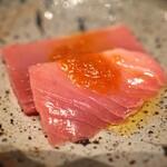 鮨 利﨑 - 富山県氷見産のメジマグロ