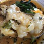 札幌スープカレー専門店エスパーイトウ - 噛み締めるモツの甘味と旨味が最高です。