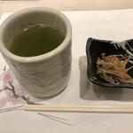 147348699 - ランチについてくる緑茶と小鉢