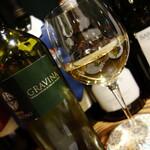 阿佐ヶ谷のイタリア料理ガッターロ - グラスの白
