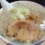 ホルモン 炎 - 料理写真:極太麺背脂しょうゆ